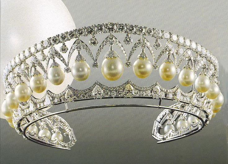 Russian Imperial Crown Jewels Pearl and Diamond Tiara
