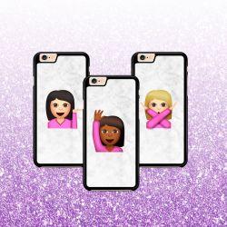 BFF hoesje - Emoji Girls Best Friends (3-delig)