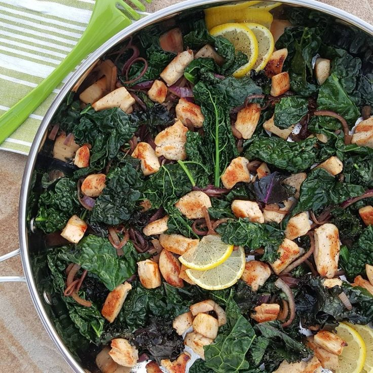 Lemon Pepper Chicken & Kale Stir Fry  http://cleanfoodcrush.com/lemon-chicken-kale-stir-fry/