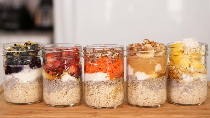 Overnight Oatmeal - 5 Types