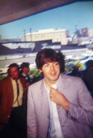 Paul McCarthy of the Beatles in 1964 at the airport in Seattle
