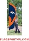 Broncos Tall Team Flag 8.5' x 2.5'