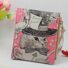 New giappone e stile coreano portafoglio donna animale stampe ragazze brevi portafogli moda dolce il cambiamento cerniera borsa delicato cash purse(China (Mainland))