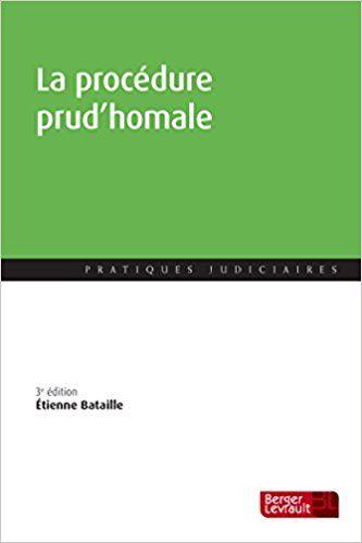 Procedure Prud'Homale 3e ed - Etienne Bataille