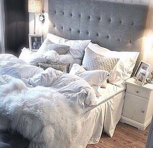 gray bedroom inspo