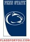 Penn State Swoosh Applique House Flag