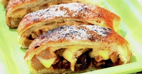 Receitas da Cily: Receita: Folhado de maçã e ameixa