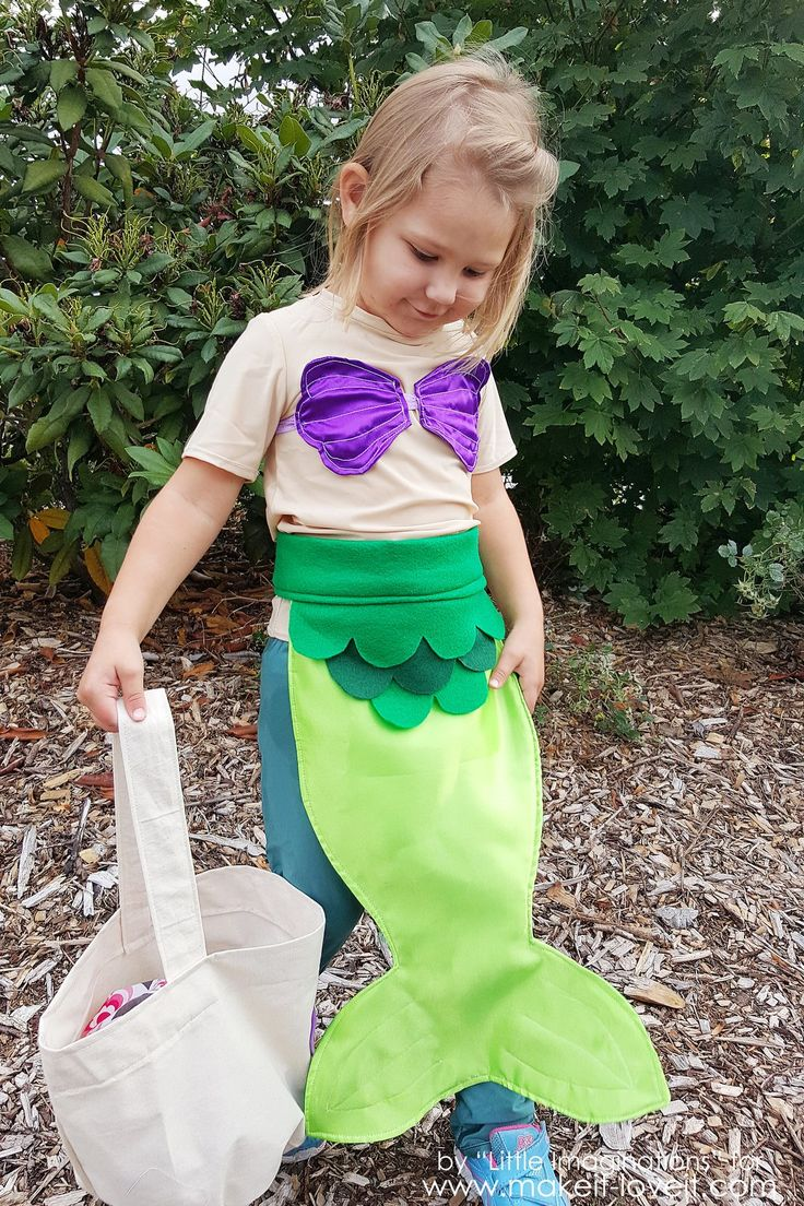 DIY Mermaid Tail and Seashell Top