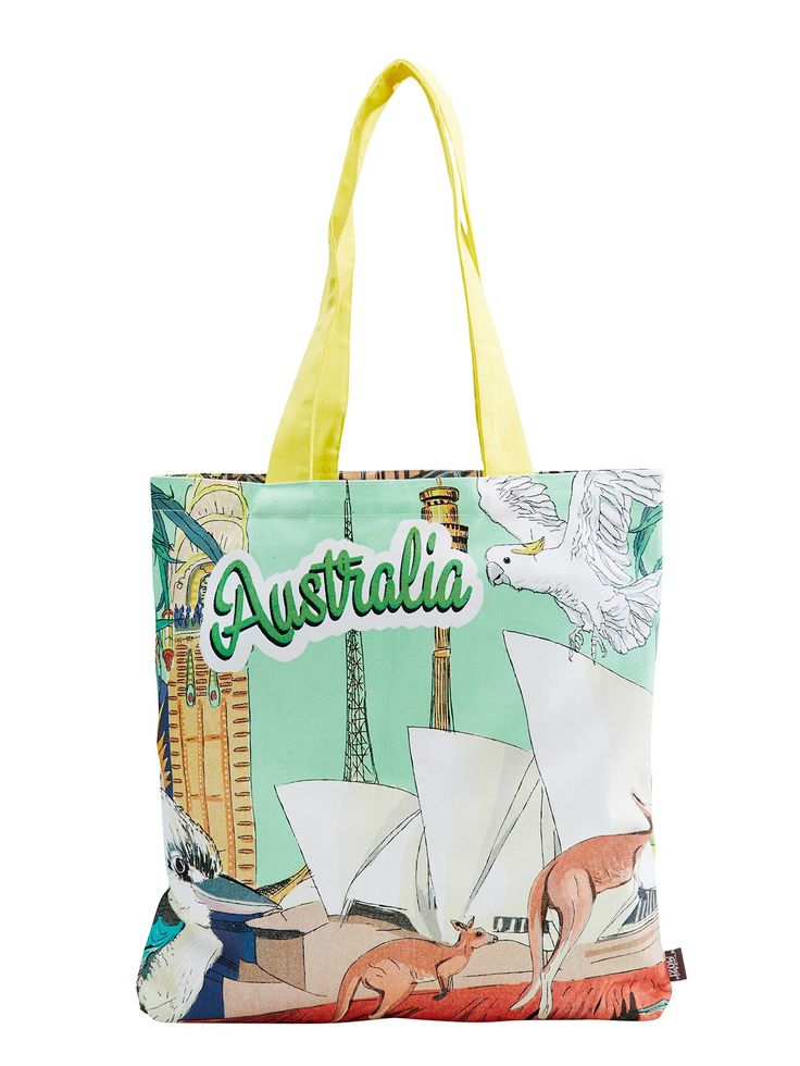 With it's vibrant original design MOZI's Australiana Tote Bag is a cheery carry-all companion that will really take you places.