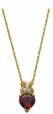 Delicate Heart Birthstone and Diamond Necklace Price: $415.00 #Hearts #Love #BlissLiving #MothersJewelry #ProudMommy #BlissLivingMothersDay @Noemí Living
