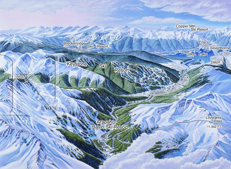 James Niehues - Map Artist - Ski Maps - Resort Maps - Regional Maps #illustrazioni #grafica #mappa