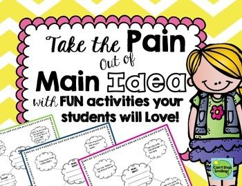 Free resource to help your youngest learners practice finding the main idea of a topic.