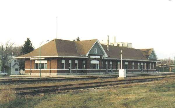 Former Union Station, now Via Rail and bus depot at Portage La Prairie, Manitoba.
