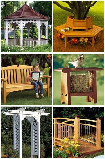 DIY Backyard Building Plans - Build your own backyard furniture, gazebo, arbor, garden bridge, bird houses and feeders, dog house and more with the help of do-it-yourself plans from WoodStore.net