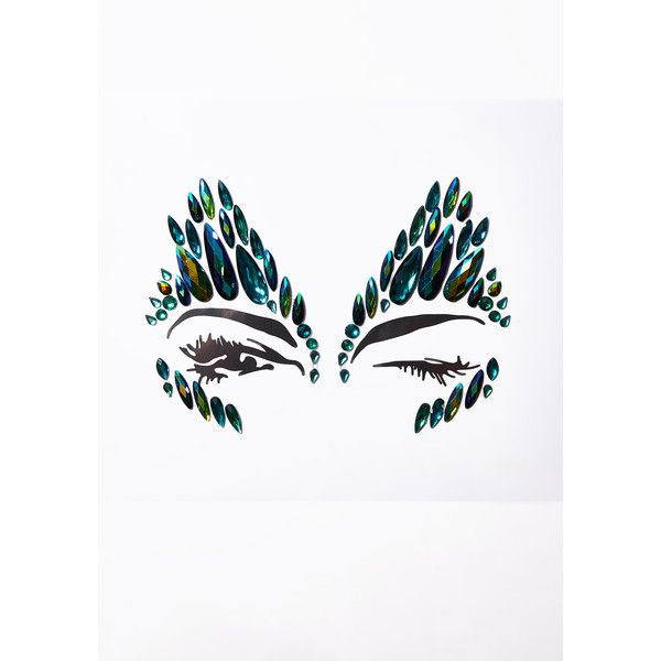 The Gypsy Shrine Poison Ivy Face Gems ($12) ❤ liked on Polyvore featuring green
