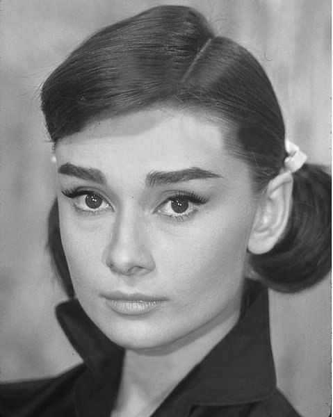 Audrey Hepburn on the set of Love in the Afternoon, 1957.