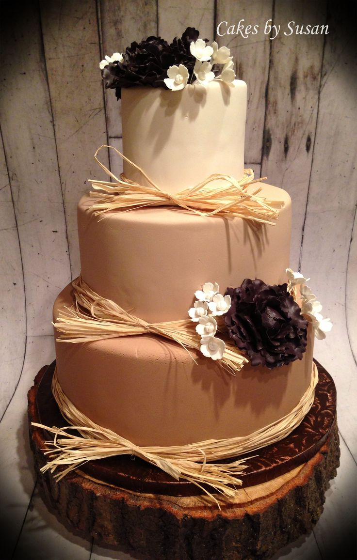Decorating With Raffia 17 Best Images About Rustic Wedding Cakes On Pinterest Burlap