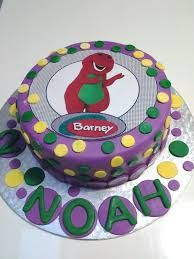 Image result for barney birthday cakes