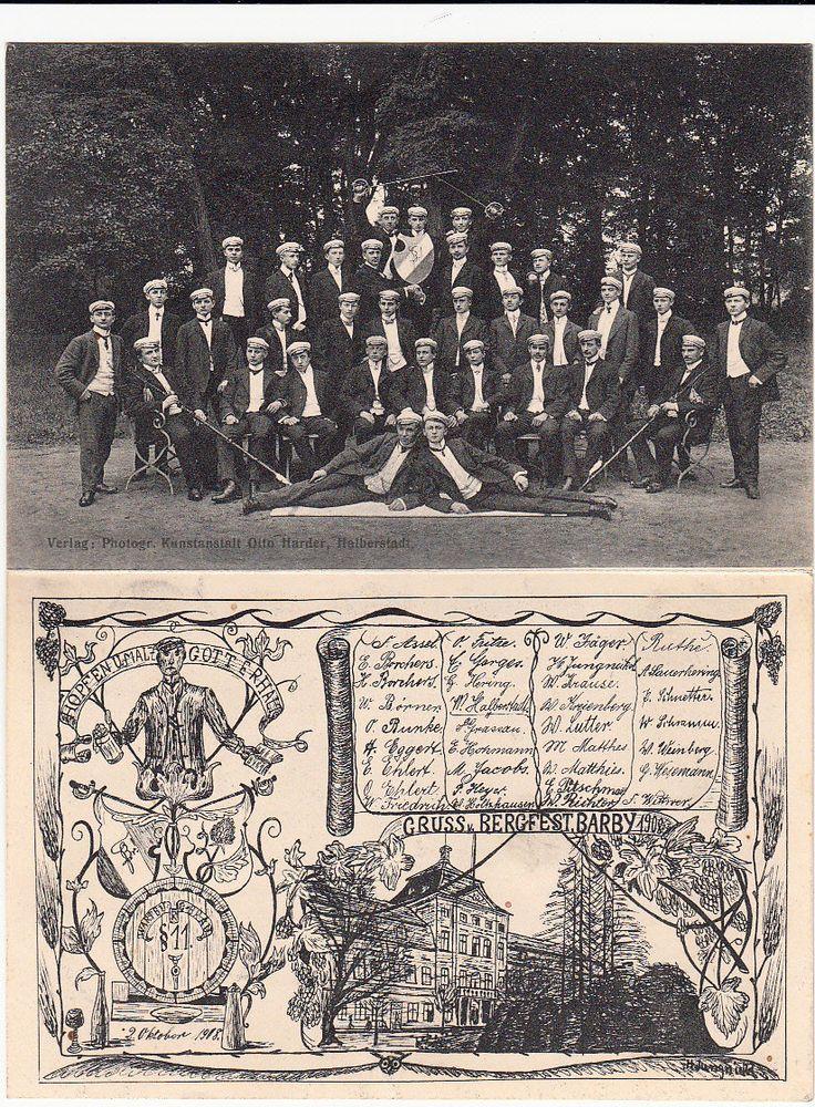 AK Klappkarte Studentika Bergfest Barby Schläger Namensliste UM 1910   eBay