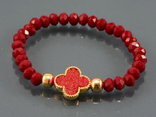 Kırmızı Taşlı Bileklik | Nemoda.com.tr