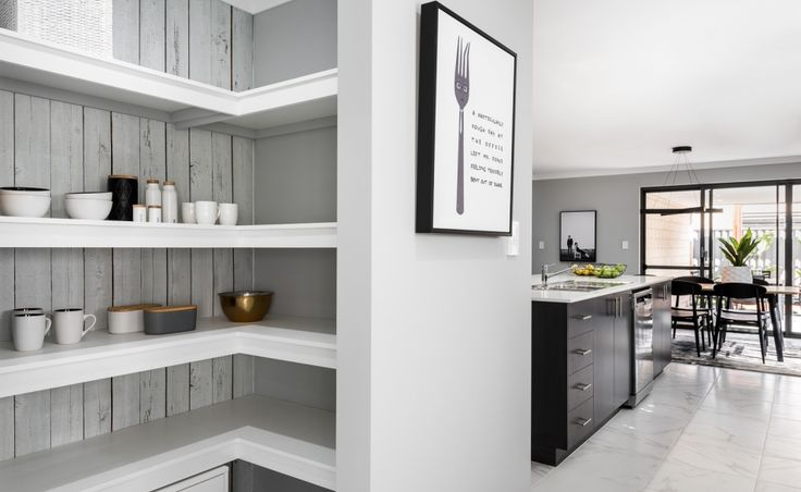 Fabulous storage in the walk-in pantry