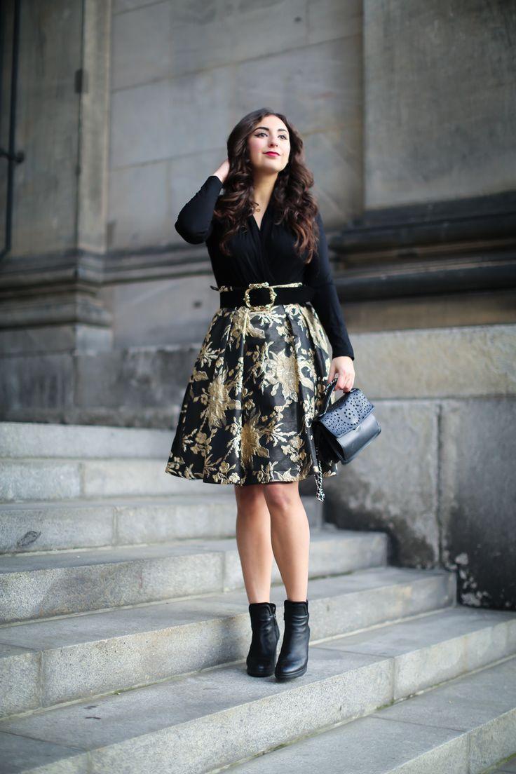 Festive Season Inspiration | Midi rock outfit, Mode und ...