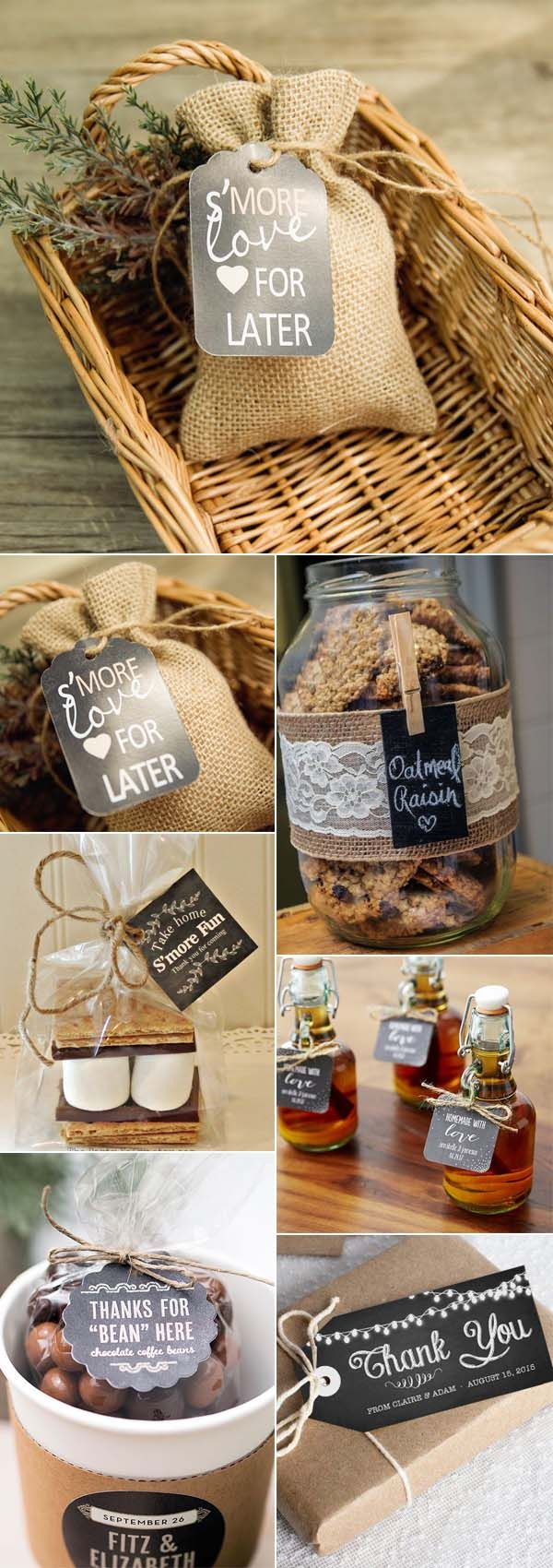chalkboard wedding favor tag ideas