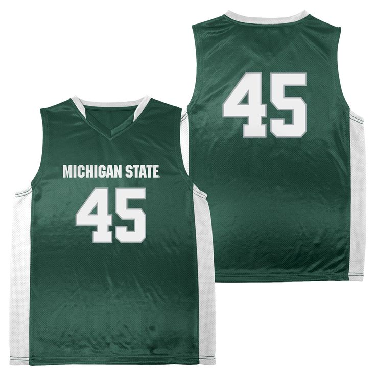 NCAA Michigan State Spartans Boys' Athletic Jersey - XS, Multicolored