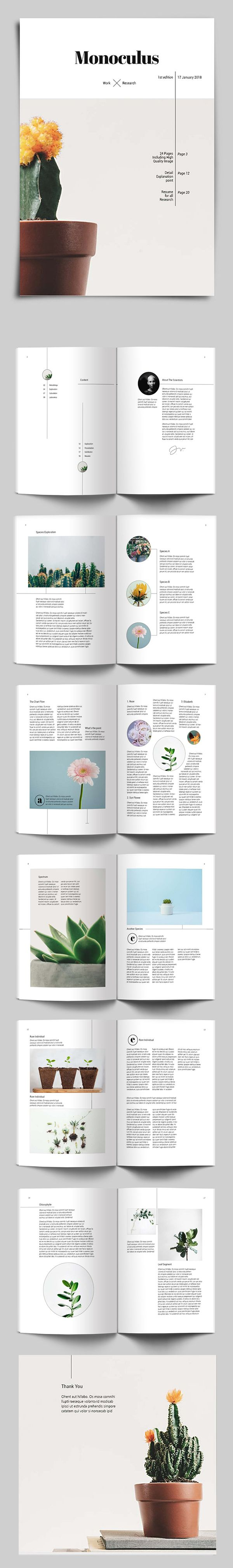 Creative Magazine Style Brochure Template #brochuretemplate #catalogdesign #booklet #annualreport #printdesign #psdtemplate