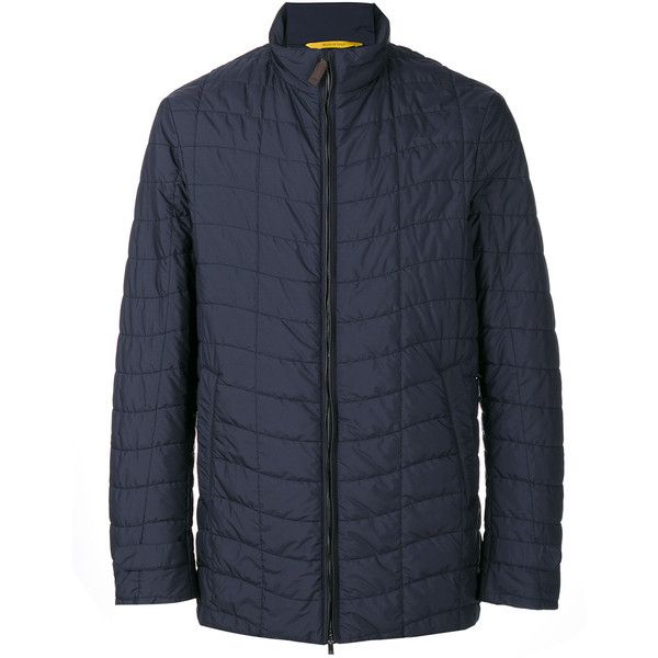 Canali padded casual jacket (72.665 RUB) ❤ liked on Polyvore featuring men's fashion, men's clothing, men's outerwear, men's jackets, blue, mens blue jacket, mens blue leather jacket, mens leather jackets, mens padded leather jacket and mens padded jacket