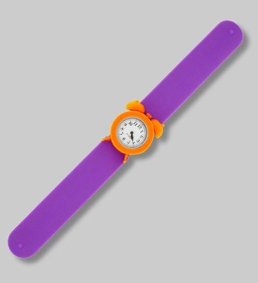 Montre enfant My Time orange et violet de chez Pylones ====>#accessoires #Bijoux #Noel #Decoration #Coiffure #femme #Shopping #Cheveux.