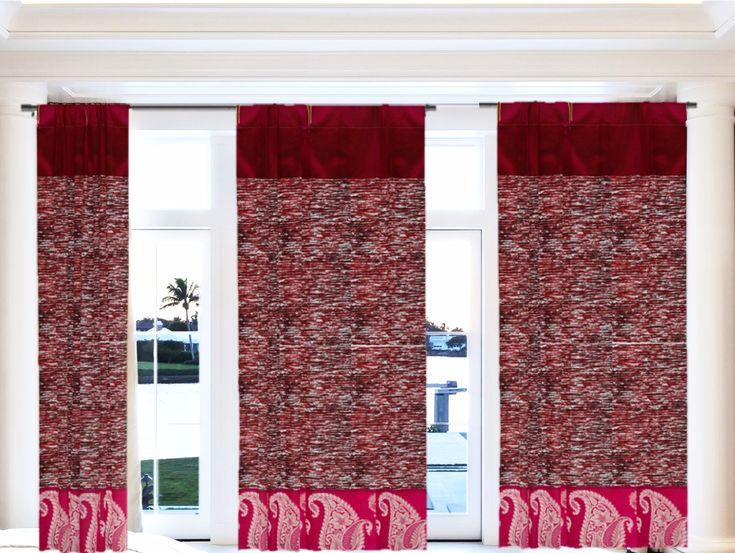 Christmas Santa colors decor- curtains or drapes. Holiday gift in Holi – Artikrti