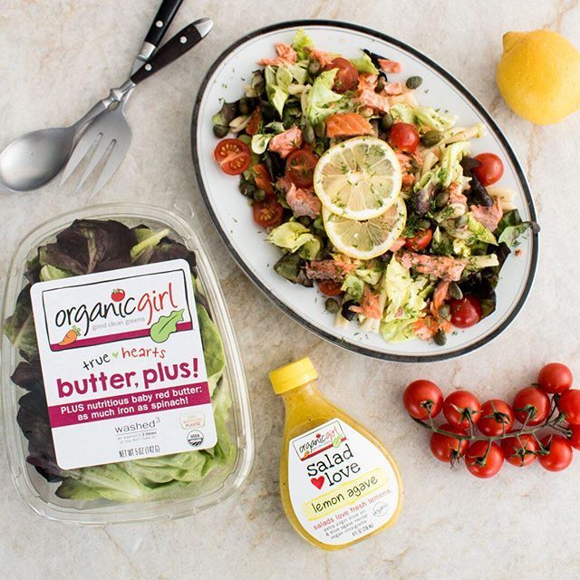 iloveorganicgirllooking for the perfect pasta salad to bring to your Memorial Day BBQ? 🇺🇸 we are loving this fresh smoked salmon pasta salad made with our NEW butter, plus! and lemon agave dressing! ❤️follow the link in our bio to get the recipe #organicgirl #goodcleangreens #iloveorganicgirl #livelifefresh #truehearts #butterlettuce #butterplus #memorialdayweekend #memorialday #bbq