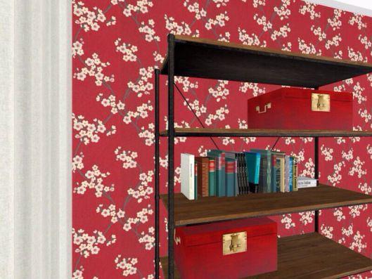 3d floor plans - konstadina nastou decorator- Greece- http://kinteriorsblog.wordpress.com/ #floorplans #roomsketcher #chinese #wallpaper #red #decor #interiors #home #deacoration