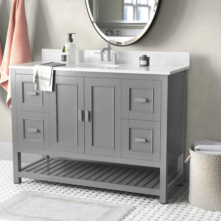Hasler 48 Single Bathroom Vanity Set, Wayfair Bathroom Vanities