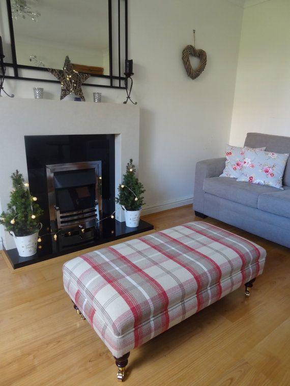 Luxury Handmade Upholstered Footstool/Coffee by TheFurnitureTailor