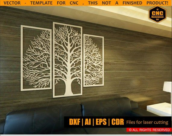Cnc File Decorative Wall Panel Is Made Of Plywood Wood Exclusive Design Vector Plan For Production Decorative Wall Panels Decorative Panels Wall Paneling