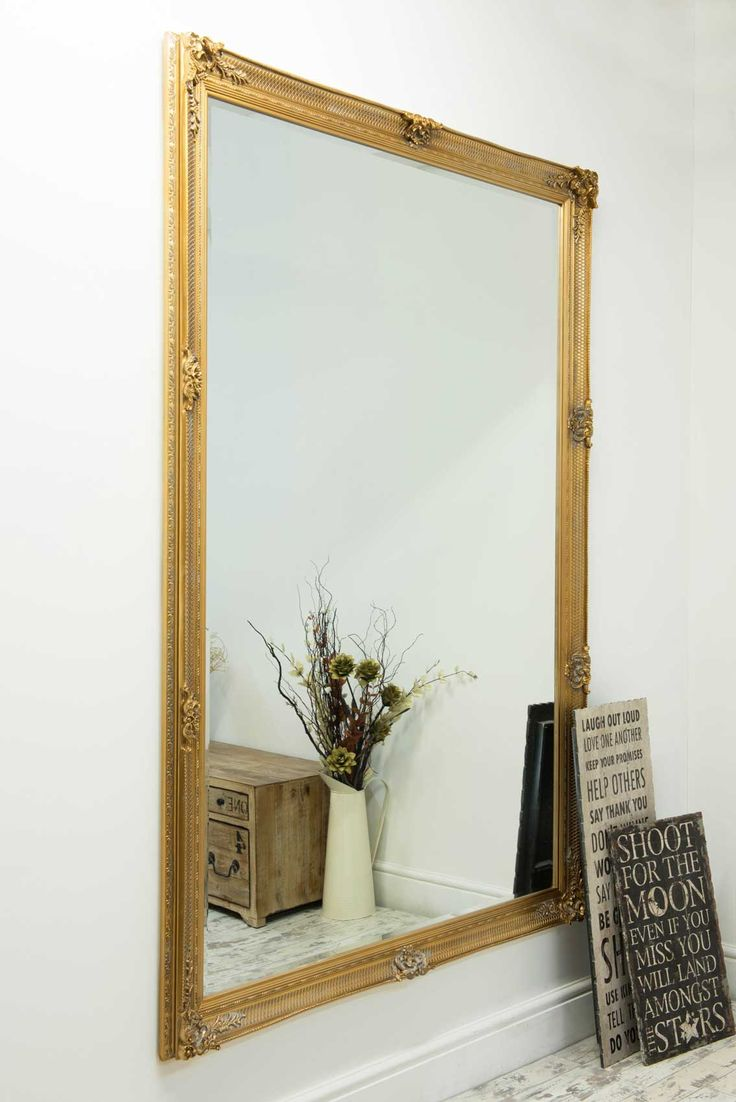 Ashburton Gold Framed Mirror 201x140cm - Soraya Interiors UK