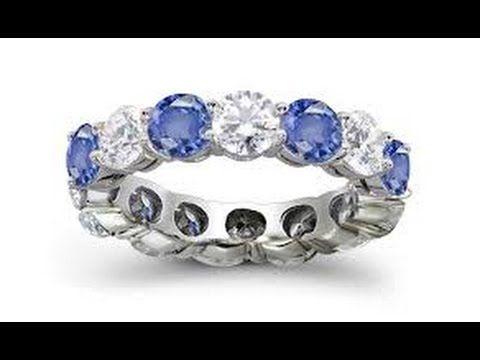 Diamond Eternity Bands - Eternity Bands Diamond And Sapphire