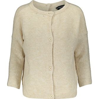Cream Mohair Buttoned Cardigan