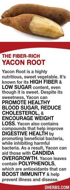 Yacon is known for its HIGH FIBER & LOW SUGAR content, even though it's sweet. Despite its sweetness, it can PROMOTE HEALTHY BLOOD SUGAR, REDUCE CHOLESTEROL, & ENCOURAGE WEIGHT LOSS. Yacon also contains compounds that help improve DIGESTIVE HEALTH by promoting beneficial bacteria, while inhibiting harmful bacteria. As a result, Yacon can aid those with CANDIDA OVERGROWTH. Yacon leaves contain POLYPHENOLS, which are antioxidants that can BOOST IMMUNITY & help prevent illness and disease…