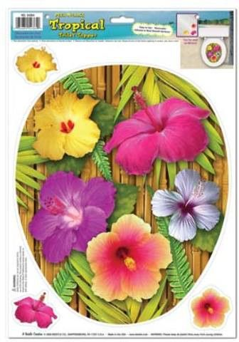 tropical toilet topper peel 'n place Case of 12