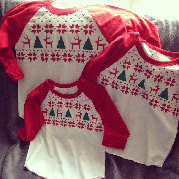 family christmas shirts, christmas sweater style shirts, fair isle sweater shirt, matching family shirts