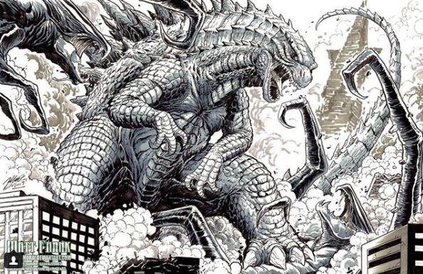Godzilla vs. Muto - by Matt Frank.