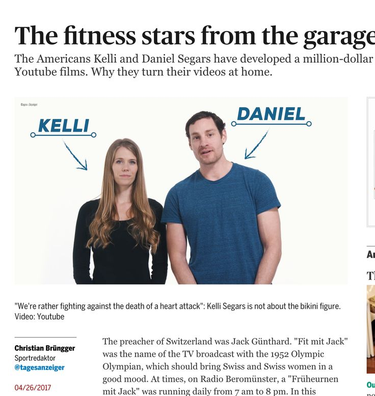 FitnessBlender.com was featured on Swiss news platform Tages-Anzeiger. So excited to be able to reach more people! If you haven't heard already, we've got over 500 completely free workout videos @ www.fitnessblender.com