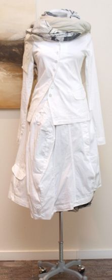 rundholz - Jacke Cotton Stretch weiss - Sommer 2013 - stilecht - mode für frauen mit format...