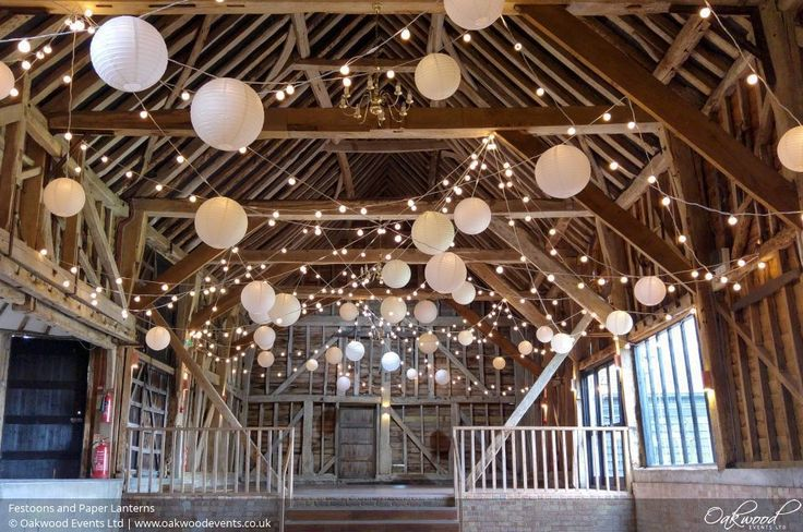 Festoons and Paper Lanterns. Lighting by Oakwood Events.