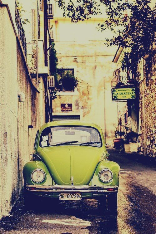 Vintage Green Fusca