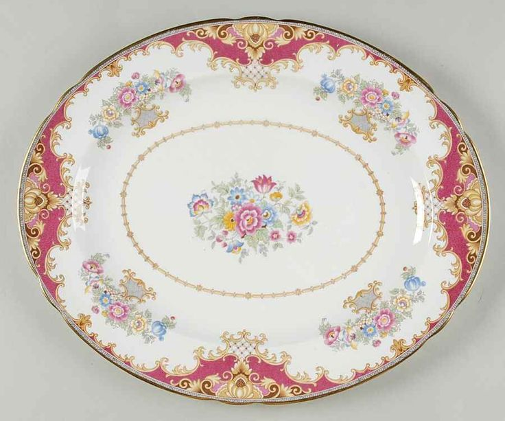 Shelley SHERATON PINK 14 5/8  Oval Serving Platter 666373 #Shelley : tableware serving dishes - pezcame.com