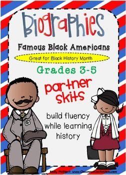 Famous Black Americans Biography Partner SKITS {Black Hist